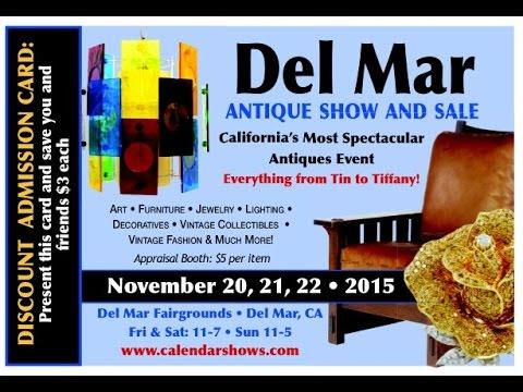 Del Mar Antique Show & Sale - November 20-22, 2015