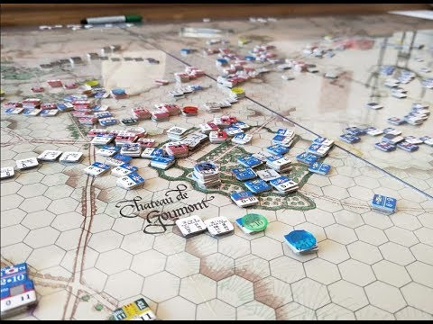 Waterloo - 12:00-12:20pm -The British Guards defend Hougoumont while D'Erlon activates in the east