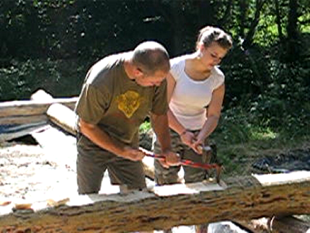 shaping the log