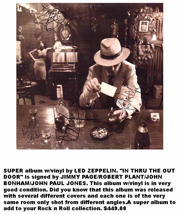Led Zeppelin In Through The Out Door Signed Album: Real Autographs or Fake?