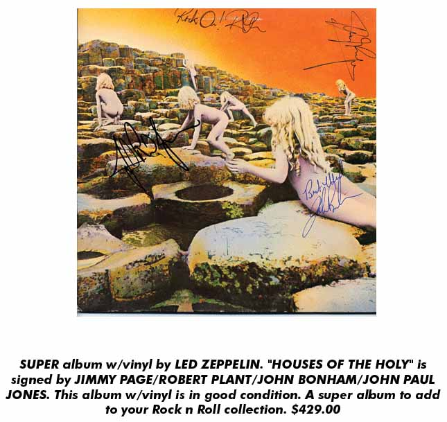 Led Zeppelin Houses Of The Holy Signed Album: Real Autographs or Fake?