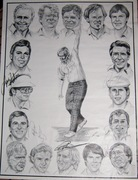 Golf Print with Head Shots