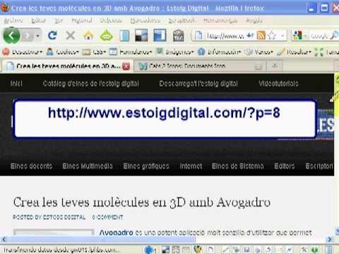 Avogadro: Editor de moléculas