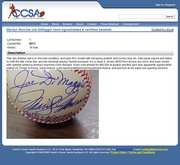 Coach's Corner August 2011 Auction: TTA and Morales Authenticated Forgeries