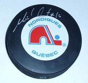 Michel Goulet Quebec Nordiques Puck