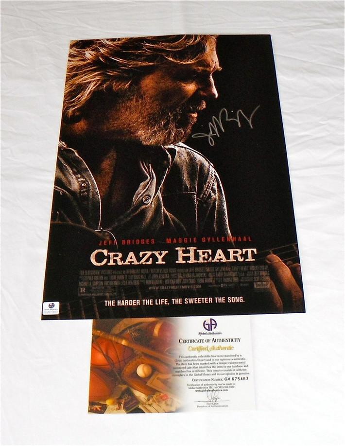 "Jeff Bridges ""Crazy Heart"" Signed Poster: GA COA-RightCoastCollectibles"