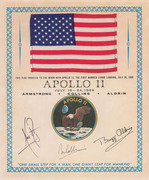 Apollo 11 Flag flown to the moon