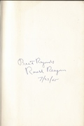 """""""Where's the Rest of Me?"""" Ronald Reagan inscription"""