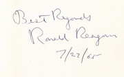 """""""Where's the Rest of Me?""""  Ronald Reagan inscription enlarged"""