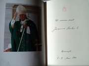 ORIGINAL AUTOGRAPH BOOK OF POPE JOHN PAUL II