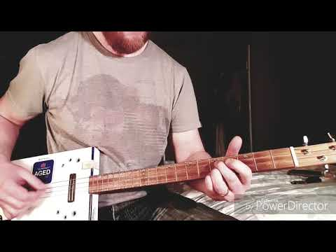 How to play Wake Me Up When September Ends by Green Day on Cigar Box Guitar