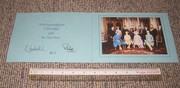 QE2 & Philip signed 1980 Xmas card.