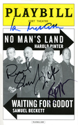 Cast of Waiting for Godot and No Man's Land