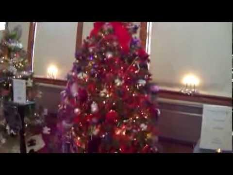 Red Hat Society Christmas Tree Display