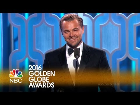 Leonardo DiCaprio Wins Best Actor in a Drama at the 2016 Golden Globes