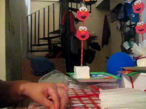 Centro de mesa infantil Elmo ( part.1)