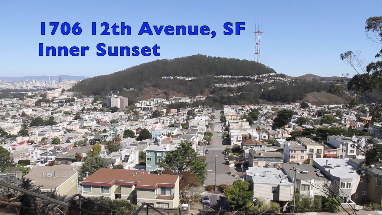 Inner Sunset Home For Sale: 1706 12th Avenue, San Francisco