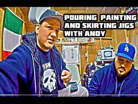 Pouring, Painting and Skirting Jigs with Andy !!!   (How To)