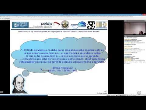 Videoconferencia: Diseño Instruccional para crear Aulas Virtuales - Prof. Omar Miratia (UCV)