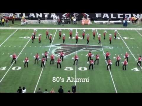 Atlanta Falcons Cheerleaders Alumni Performance 11.07.10
