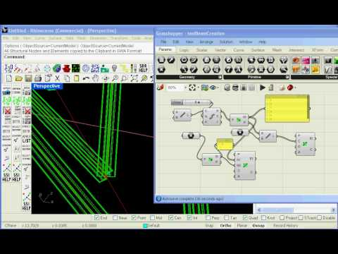 Grasshopper parametric generation of Structural Analysis Model