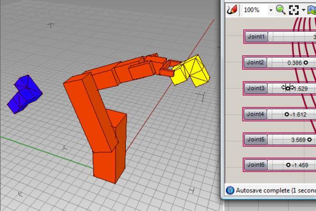 6-axis robot IK with Galapagos