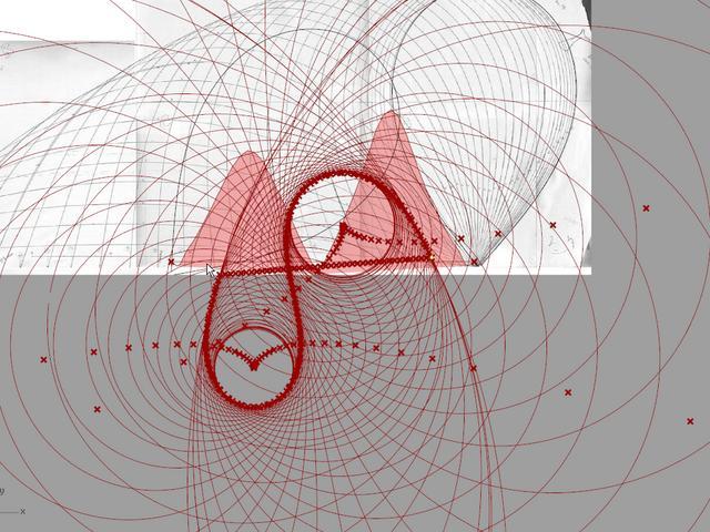 Realtime curvature analysis of a Kangaroo bending curve