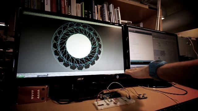 ping ultrasonic sensor driving parametric aperture