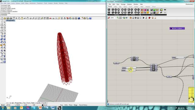 Structural modelling using Grasshopper