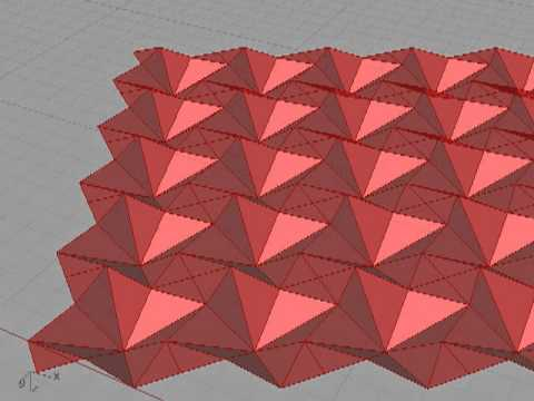 Waterbomb Tesselation using Grasshopper3d