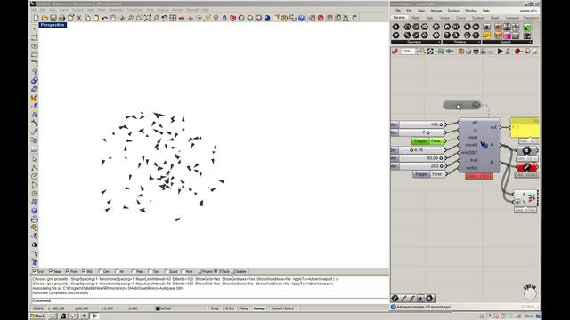 Eksperiment with swarm behavior