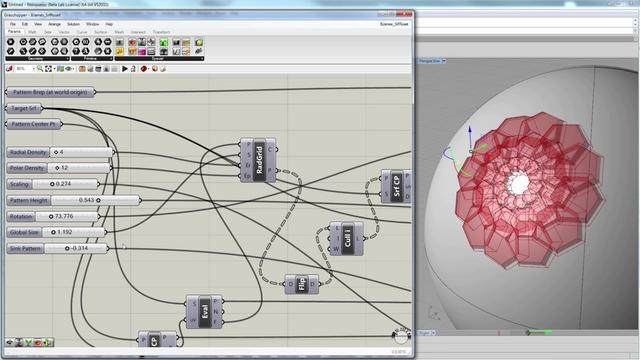 Modeling a parametric rosette with Grasshopper