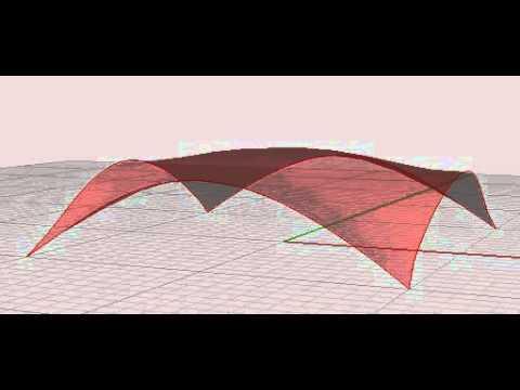 Inverted hanging model using Kangaroo