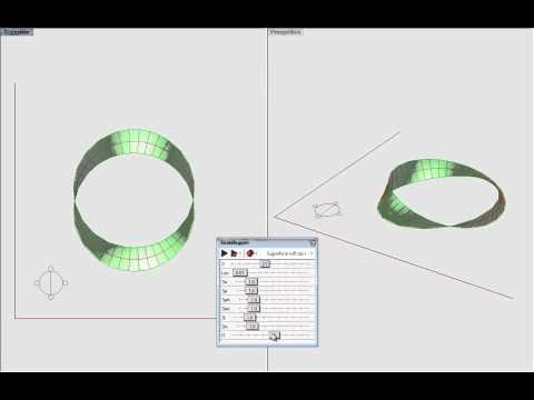 Superficie loft da una curva di sezione trasformata lungo una curva chiusa di percorso