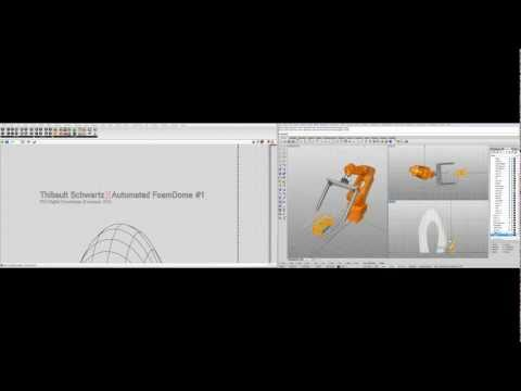 Automated FoamDome #1 - Toolpath & Robot code generation