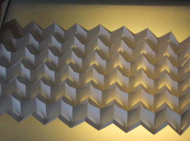 Folding Shading Panel - V-weave chevron