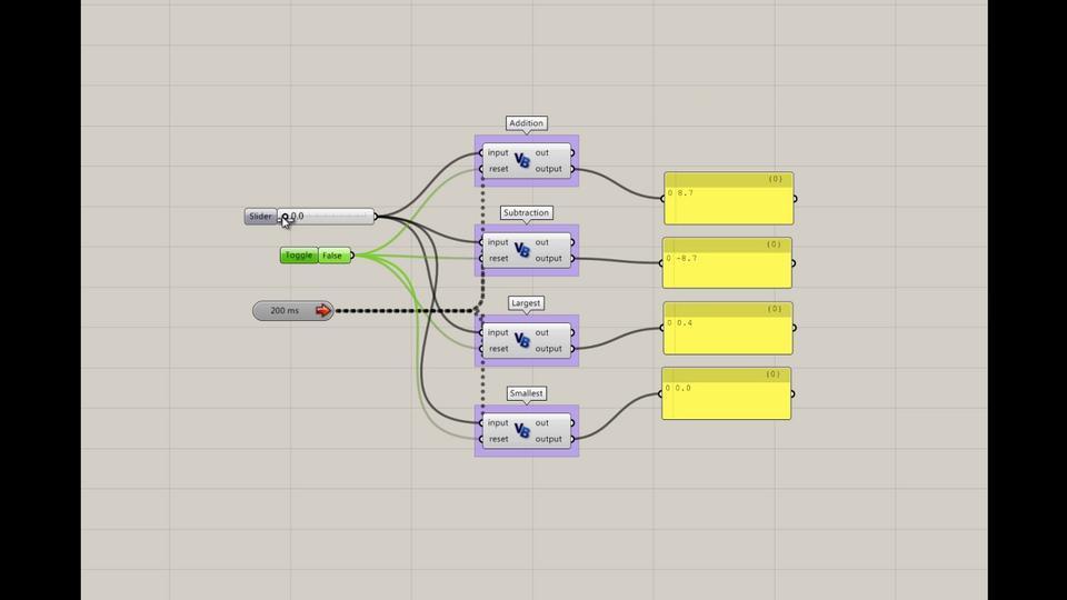 Simple Datarecorders in Grasshopper
