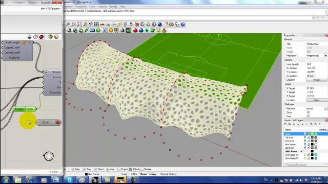 mesh relaxation in Grasshopper trial 1