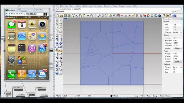 Real-time Voronoi: iPhone+Grasshopper FireFly+VVVV