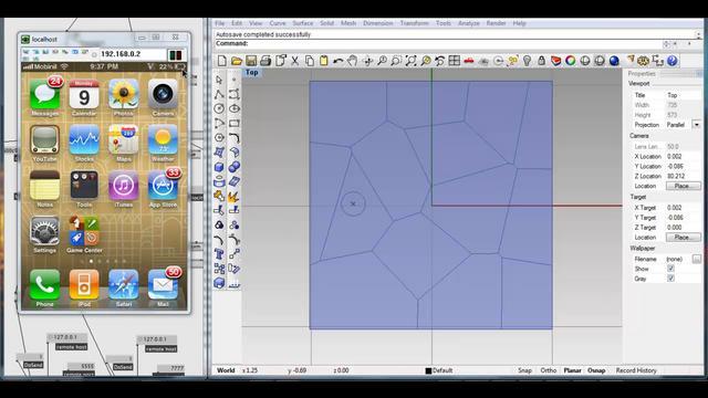 Real-time Voronoi: iPhone+Grasshopper FireFly+VVVV
