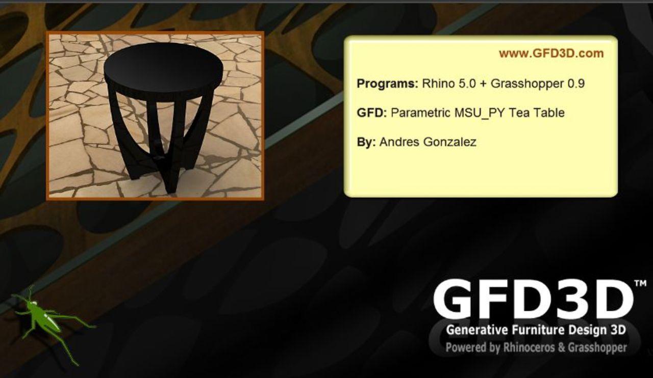 GFD MSY_PY Table with Rhino 5 0 + GH 0 9 - Grasshopper