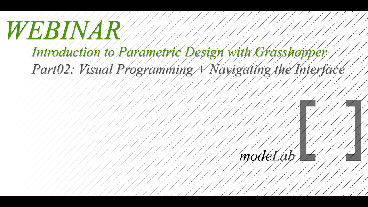 Intro to GH Webinar | Part02: Visual Programming + Navigating the Interface