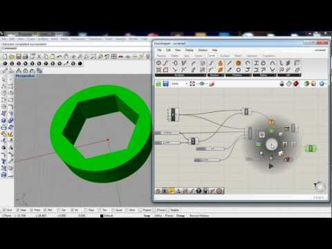 grasshopper 3d - planar surface and extrude