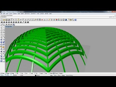 grasshopper 3d - curve projection 2