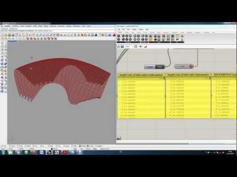 Form Finding Experiment | Gridshell | Grasshopper + Kangaroo