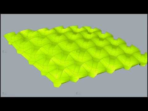 triangle based tesselation folding simulation