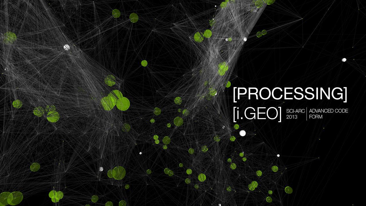 Processing [i.Geo] Swarm Drawing