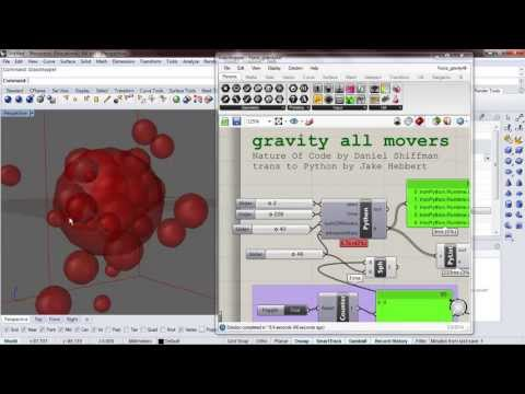 Force 13:  Gravity between all movers