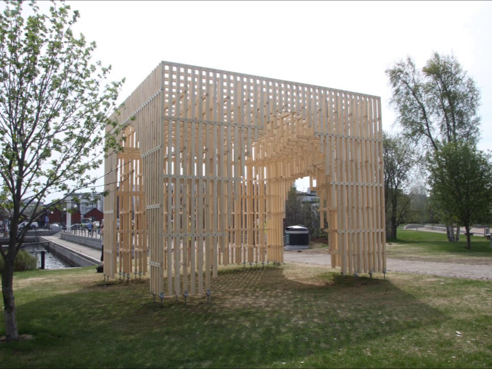 Construction of the HILA pavilion