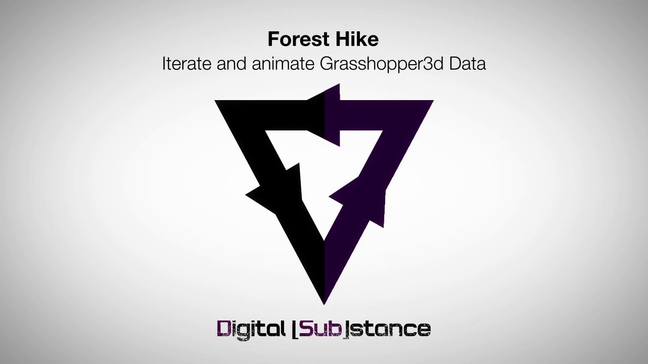 Forest Hike - Iterate and animate Grasshopper3d Data